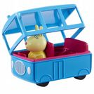 Peppa Pig  SCHOOL BUS & Miss Rabbit FIGURE - Push Along Vehicle - NEW